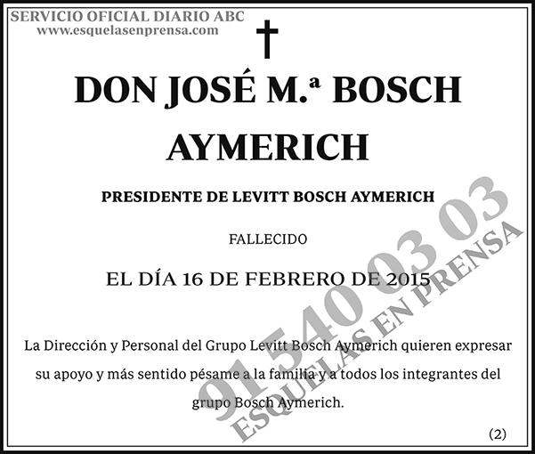 José M.ª Bosch Aymerich